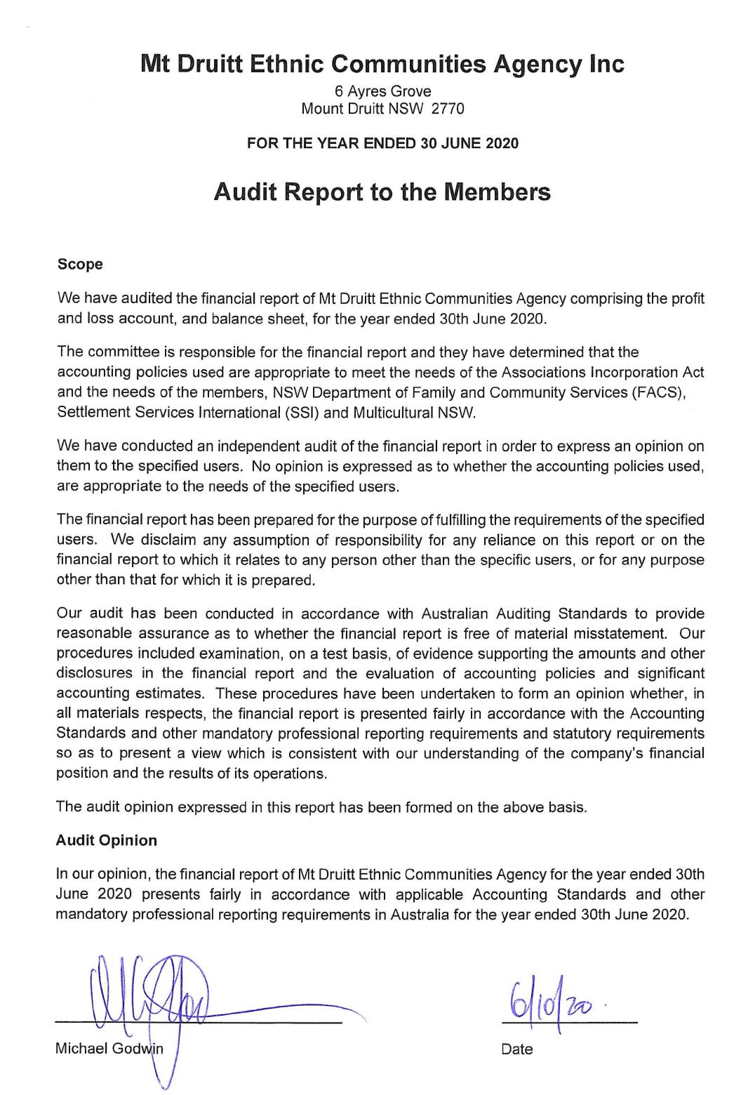 MECA Financial Report pg2